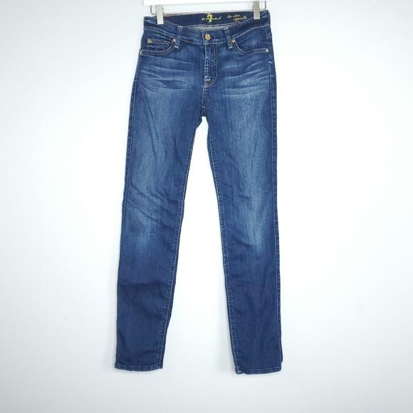 7 For All Mankind Denim - 7FOMK The Slim Cigarette Womens Size 27 Jeans